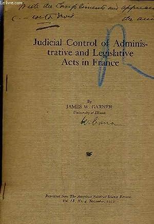 Judicial Review Legislative Acts - AbeBooks