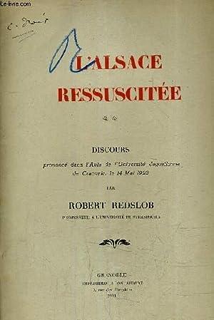 L'ALSACE RESSUSCITEE - DISCOURS PRONONCE DANS L'AULA DE L'UNIVERSITE JAGUELLONNE DE ...
