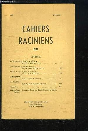 Cahiers Raciniens, N°12 : La Jeunesse de: VAUNOIS Louis &