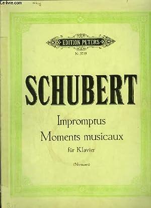 IMPROMPTUS - MOMENTS MUSICAUX FÜR KLAVIER.: SCHUBERT