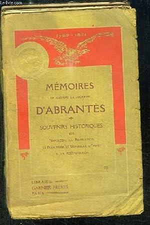 Mémoires de Madame la Duchesse d'Abrantès. TOME III: ABRANTES Duchesse d'