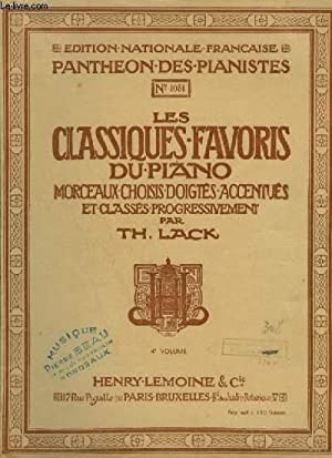 LES CLASSIQUES FAVORIS DU PIANO - VOLUME: LACK THEODORE