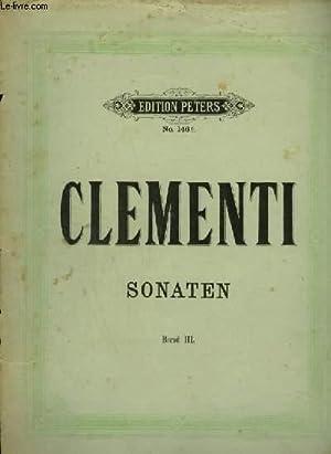 SONATEN - BAND 3 : SONATE 13 A 18.: CLEMENTI