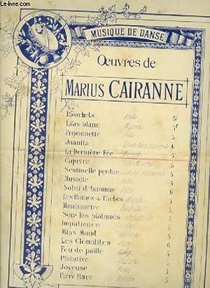 LA DERNIERE FEE - MAZURKA POUR PIANO.: CAIRANNE MARIUS