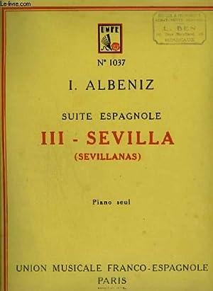 SUITE ESPAGNOLE N°3 : SEVILLA.: ALBENIZ I.