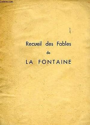RECUEIL DE FABLES DE LA FONTAINE: LA FONTAINE