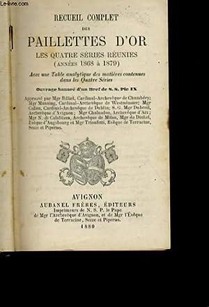 RECUEIL COMPLET DES PAILLETTES D'OR - LES: COLLECTIF