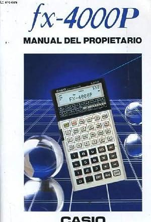 FX-4000P MANUAL DEL PROPIETARIO: COLLECTIF
