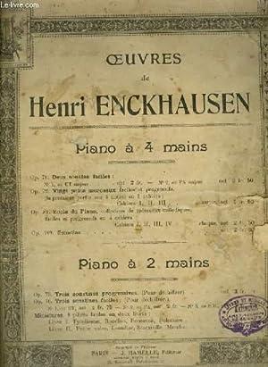 ECOLE DU PIANO - OP.84.: ENCKHAUSEN HENRI