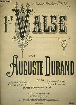 1° VALSE - POUR PIANO ET CHANT.: DURAND AUGUSTE