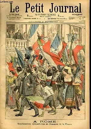 LE PETIT JOURNAL - supplément illustré numéro 676 - A ROME: MANIFESTATIONS SYMPATHIQUES EN L'...