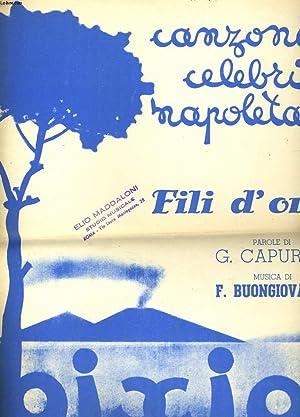 CANZONI CELEBRI NAPOLETANE - FILI D'ORO: G. CAPURRO -
