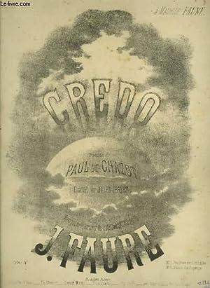 CREDO - POUR PIANO ET CHANT AVEC PAROLES.: FAURE J.