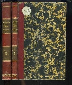 POESIES FRANCAISES distribuées et annotées à l' usage des collèges. TOMES 1 ET 2.: LE P. ARSENE...