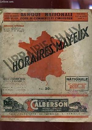 HORAIRES MAYEUX - SERVICE D'HIVER 1945 -: COLLECTIF