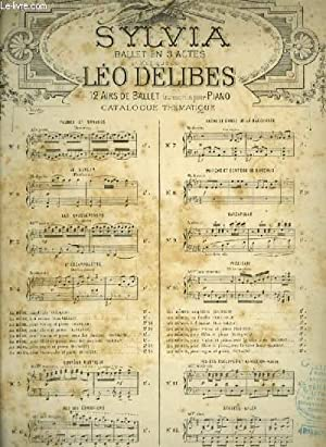 SYLVIA - N°10 : PIZZICATI - POUR PIANO.: DELIBES LEO