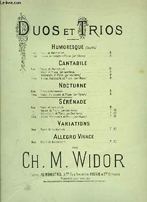 DUOS ET TRIOS : NOCTURNE POUR PIANO + VIOLON + VIOLONCELLE.: WIDOR CH. M.