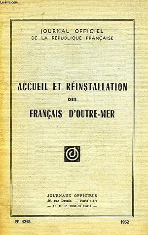 ACCUEIL ET REINSTALLATION DES FRANCAIS D'OUTRE-MER: COLLECTIF