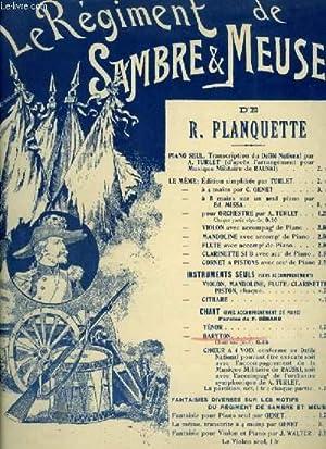 LE REGIMENT DE SAMBRE ET MEUSE -: PLANQUETTE ROBERT