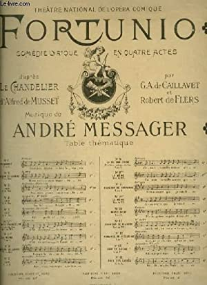 FORTUNIO - N°8 BIS : LA MAISON GRISE - POUR PIANO ET CHANT AVEC PAROLES.: MESSAGER ANDRE