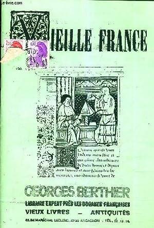 CATALOGUE VIEILLE FRANCE - GEORGES BERTHIER LIBRAIRIE EXPERT PRES LES DOUANES FRANCAISES - VIEUX ...