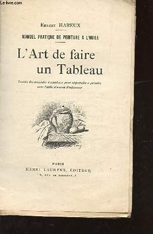 L'ART DE FAIRE UN TABLEAU / MANUEL PRATIQUE DE PEINTURE A L'HUILE.: HAREUX ERNEST