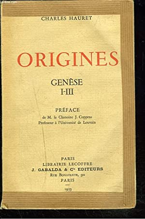 ORIGINES. GENESE I-III.: CHARLES HAURET