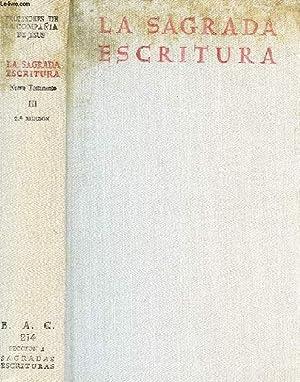 LA SAGRADA ESCRITURA, NUEVO TESTAMENTO, III (ultimo),: COLLECTIF