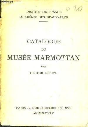 CATALOGUE DU MUSEE MARMOTTAN.: LEFUEL HECTOR