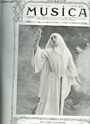 MUSICA - N°81 : JUIN 1909 - Chronique du mois + Une saison d'opéra Russe à Paris + L'école ...