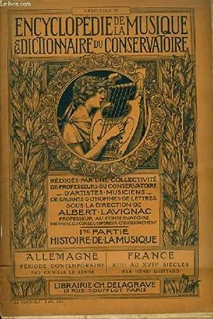 ENCYCLOPEDIE DE LA MUSIQUE & DICTIONNAIRE DU: LAVIGNAC ALBERT