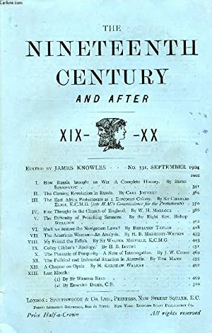 THE NINETEENTH CENTURY AND AFTER XIX-XX, N° 331, SEPT. 1904 (Summary: How Russia brought on ...