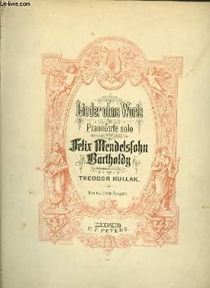 LIEDER OHNE WORTE / ROMANCES SANS PAROLES: MENDELSSOHN - BARTHOLDY
