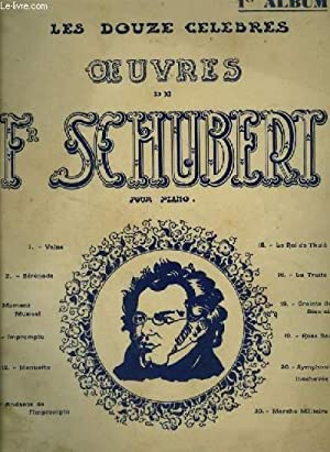 LES DOUZE OEUVRES DE FR. SCHUBERT -: CHOPIN FREDERIC