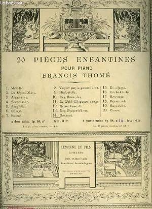 20 PIECES ENFANTINES - N°14 : BOURREE - POUR PIANO.: THOME FRANCIS