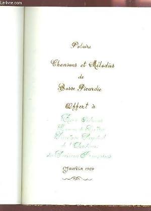 CAP NORD - JANVIER 1968 / POLAIRE : CHANSONS ET MELODIES DE BASSE PICARDIE.: ROLAND G.P. / CHATEL G...