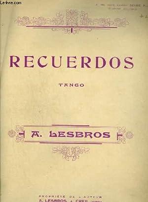RECUERDOS - TANGO POUR PIANO.: LESBROS A.