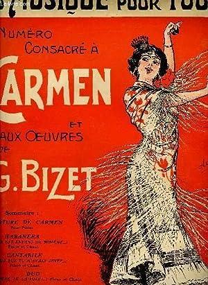La musique pour tous 7e année N°81. Carmen et G. Bizet.: Collectif