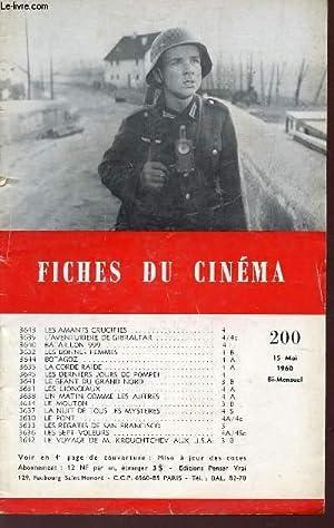 FICHES DU CINEMA - N°200- 15 MAI 1960/ LES AMANTS CRUCIFIES - L'AVENTURIERE DE ...