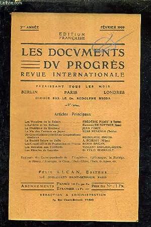 LES DOCUMENTS DU PROGRES - REVUE INTERNATIONALE - 3E ANNEE - FEVRIER 1909 - les victoires de la ...