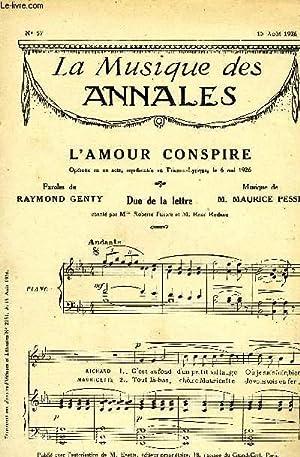 LA MUSIQUE DES ANNALES N°57 L'AMOUR CONSPIRE: COLLECTIF