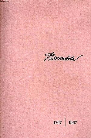 WILHELM VON HUMBOLDT, 1767-1967: KNOLL JOACHIM H., SIEBERT HORST