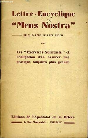 """LETTRE-ENCYCLIQUE """"MENS NOSTRA"""".: PIE XI LE"""