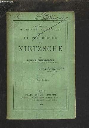 LA PHILOSOPHIE DE NIETZSCHE /8E EDITION.: LICHTENBERGER HENRI
