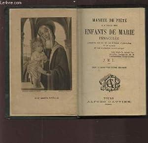 MANUEL DE PIETE - A L'USAGE DES: COLLECTIF