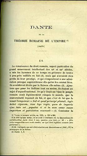 DANTE ET LA THEORIE ROMAINE DE L'EMPIRE (SUITE): JORDAN E.