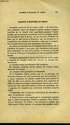 SOCIETE D'HISTOIRE DU DROIT: COLLECTIF