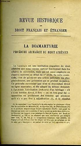LA DIAMARTYRIE PROCEDURE ARCHAIQUE DU DROIT ATHENIEN - NOTES SUR L'IMMUNITE MEROVINGIENNE - L&...