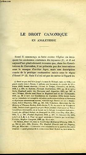 LE DROIT CANONIQUE EN ANGLETERRE - VARIETES - COMPTES RENDUS - CHRONIQUE: COLLECTIF