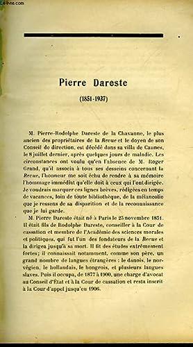 PIERRE DAREST - 1851 - 1937: OLIVIER MARTIN